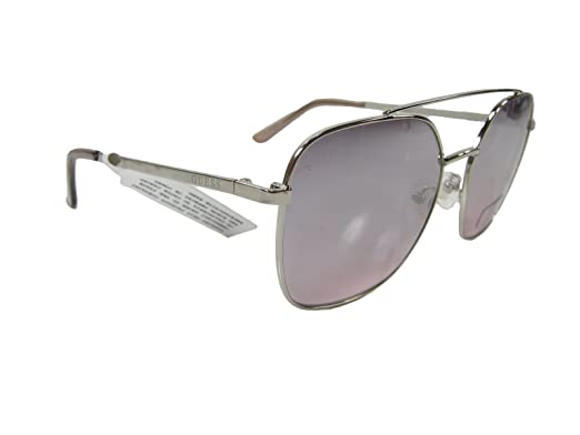 4915114d93 Image Unavailable. Image not available for. Color  New Guess G Logo  Designer Sunglasses Silver ...