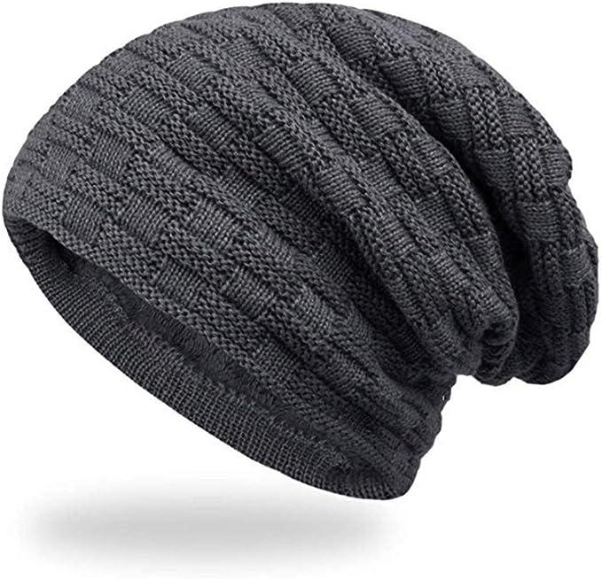 Beanie Mütze Damen Herren Slouch Long Mützen Hüte Wollmütze Strickmütze Ski Hut