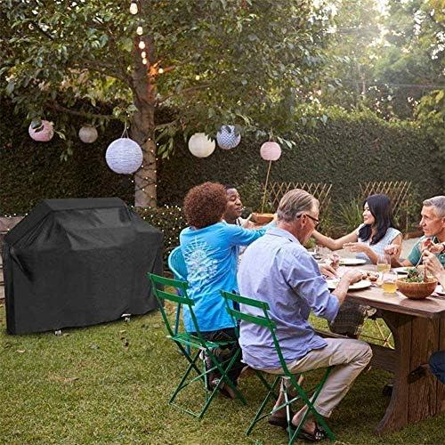 Bâche Barbecue, 210D Tissu Oxford Housse de Protection BBQ Imperméable Antipoussière, Couverture de Grill avec Cordon de Serrage, Anti -UV Anti-vieillissement - Noir,190x71x117 cm