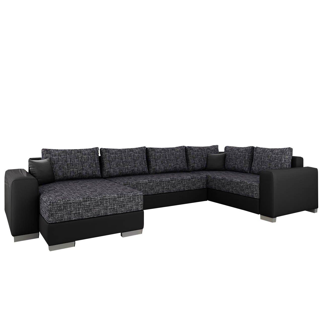 Ecksofa Olga, Elegante BIG Couch, Design U-Form Eckcouch, Ecksofa, Farbauswahl, Wohnlandschaft (Ecksofa Links, Soft 011 + Valencia 101)