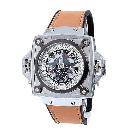 Rosepoem Reloj de Cuarzo Grande para Hombres Relojes de Pulsera para Hombre Reloj de Colores para Uso Diario: Amazon.es: Relojes