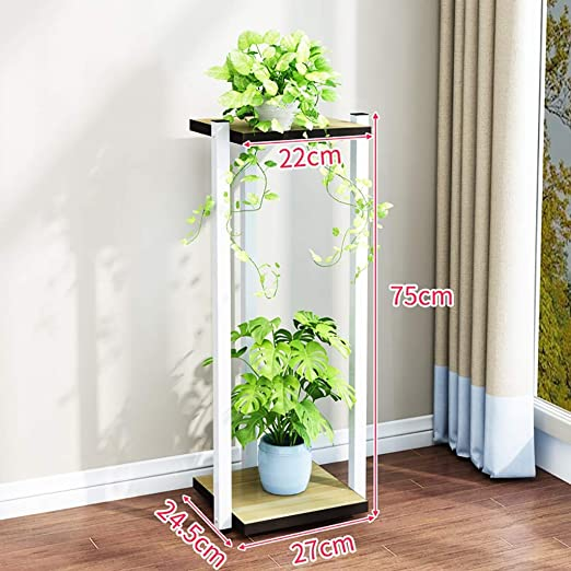 Puesto de plantas Soporte vertical de doble capa para macetas de ...