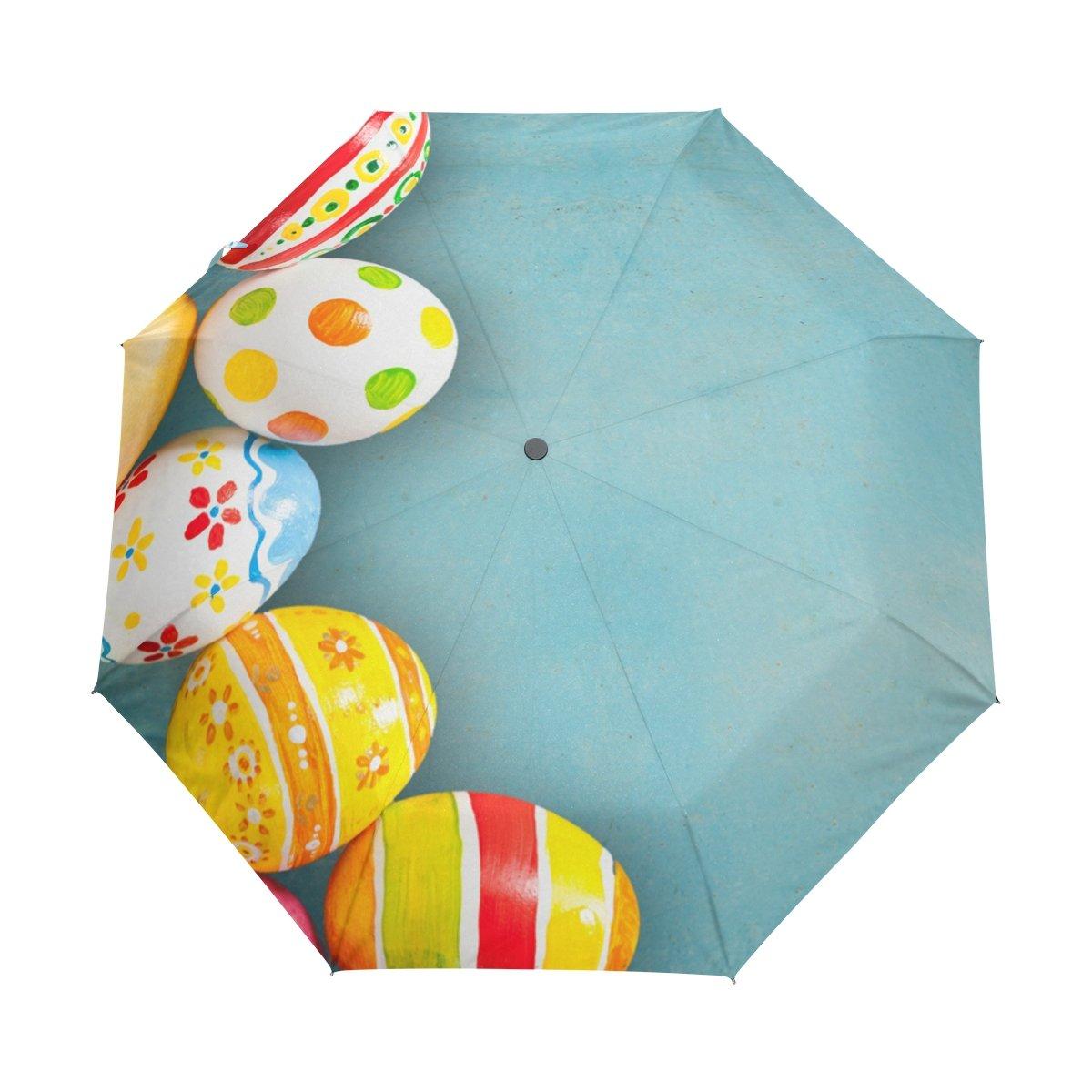 Senya Saobao防風と防雨トラベル傘with自動開いて閉じFolding Easter Eggsポータブル折りたたみ式太陽雨傘 B07FFRTL8Q
