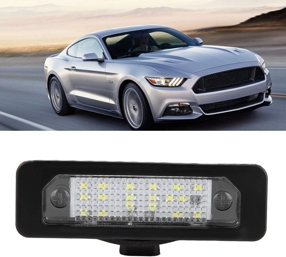 KSTE 2pcs LED Placa del carnet de luz de la l/ámpara de fusi/ón Ford Mustang Taurus Flex