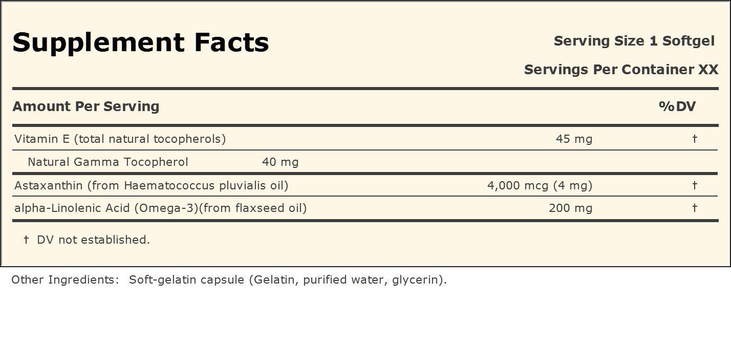 Astaxanthin 60 Capsules