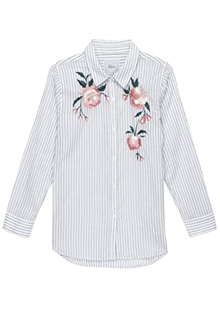 1863d20c Rails - Nevin Floral Embroidery Shirt - Stripe, STRIPE PINK FLORAL EMB:  Amazon.co.uk: Clothing