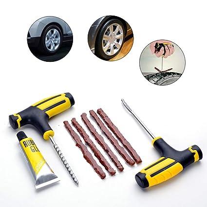 Kit de reparación de neumáticos,Herramienta de reparación de neumáticos sin cámara para Motocicletas de