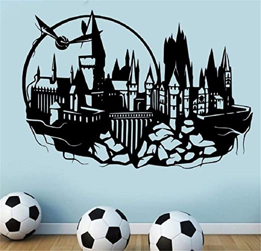 Sticker Maravilloso Hogwarts Tatuajes De Pared De Castle ...
