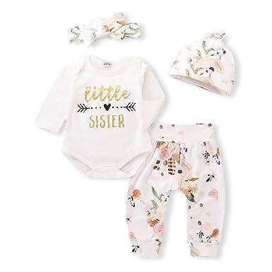 50f43c4e7377 Amazon.com  AR-LLOYD Baby Girls Little Sister Pants Sets Letter ...