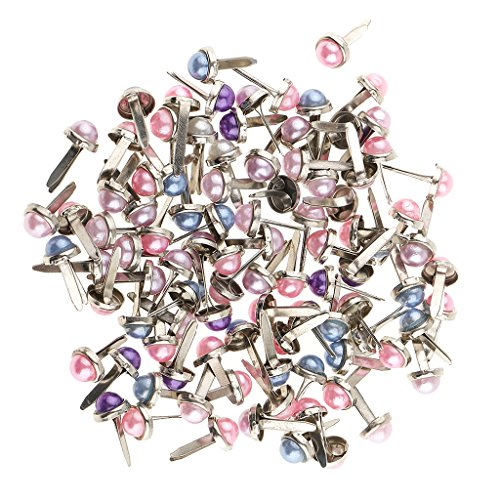 - Jili Online 200 Pieces Metal Pearl Head Brads Paper Fastener for Scrapbooking Cardmaking Decoration DIY 6mm