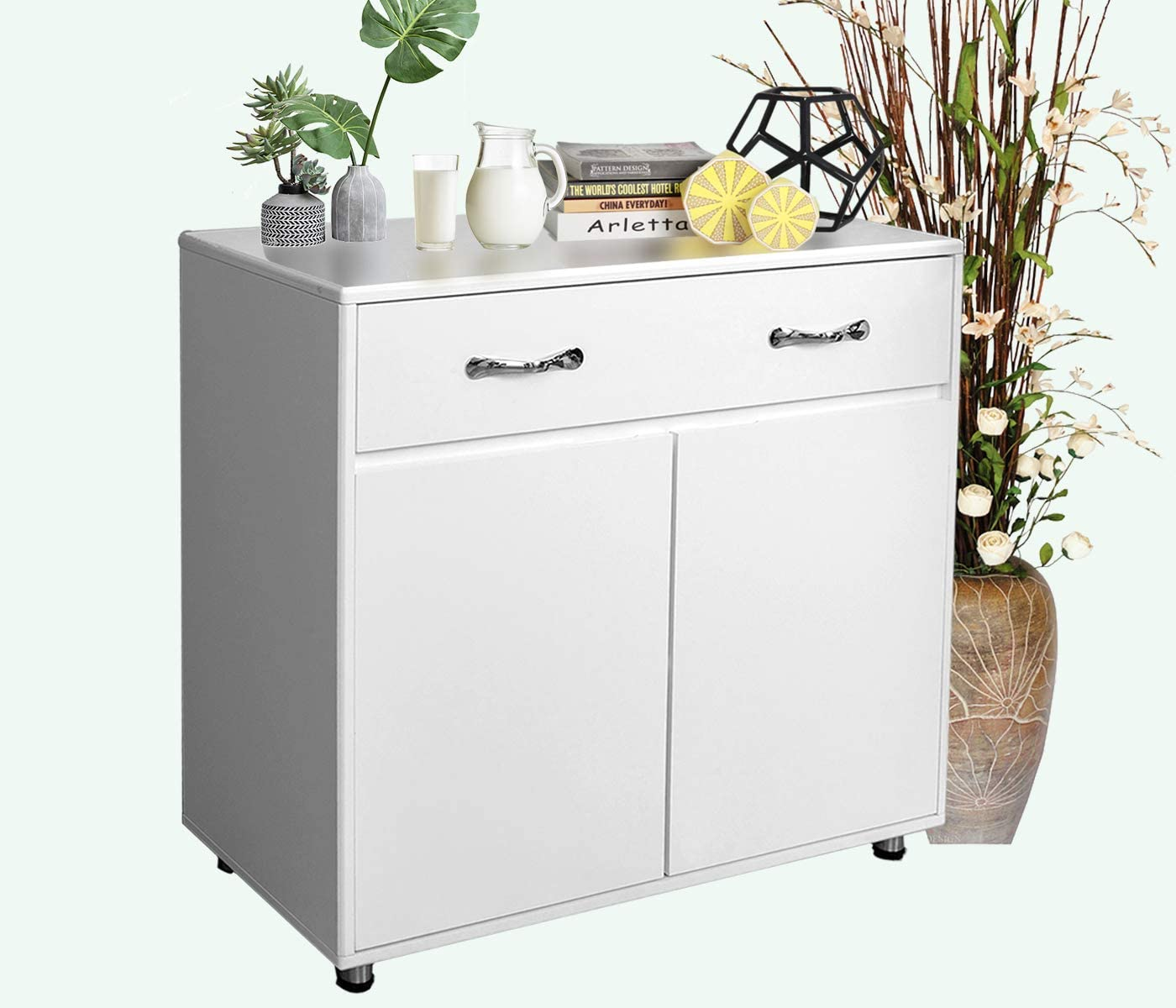 Amazon Com Buffet Cabinet Kitchen Sideboard With 3 Doors And 3 Drawers For Dining Room White Storage Cabinet 1 Drawer 2 Doors White Buffets Sideboards