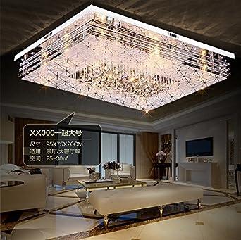JJ Moderne LED Deckenleuchte rechteckige LED Licht Atmosphäre ...