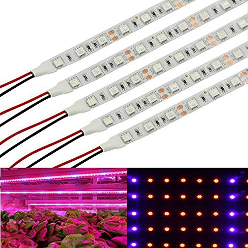 30W DC 12V 5 Blue 25 Red Flexible Soft LED Grow Light Bar for Indoor Garden Greenhouse Plants