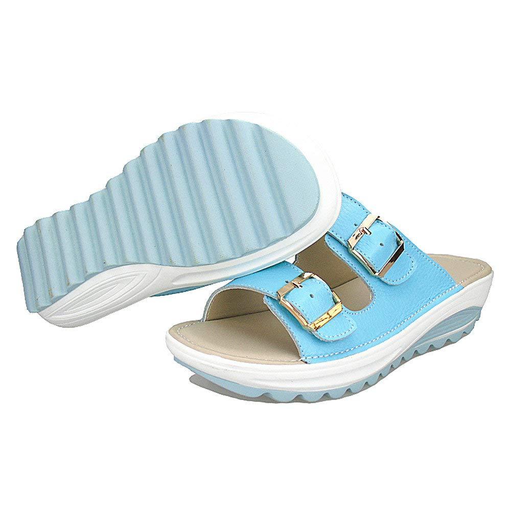 Sandales Compens/ées Femme Sandales Talon Compens/é Chaussures Tongs d/ét/é Casual Peep Toe Platform Wedges LianMengMVP