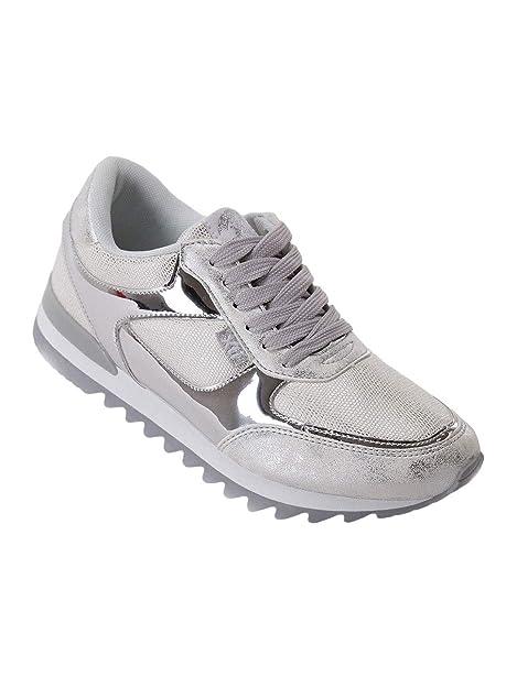 XTI 046991, Zapatillas para Mujer, Plateado (Silver), 37 EU