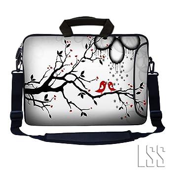 LSS 17 pulgadas, Sleeve Bolso para ordenador portátil, bolsillo adicional con maletín, flexible y cómoda extraíble ...