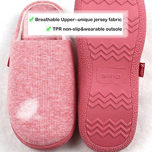 NiNE CiF Womens Fuzzy Winter Slippers Outdoor House Slippers Massage-pink 7gEM1