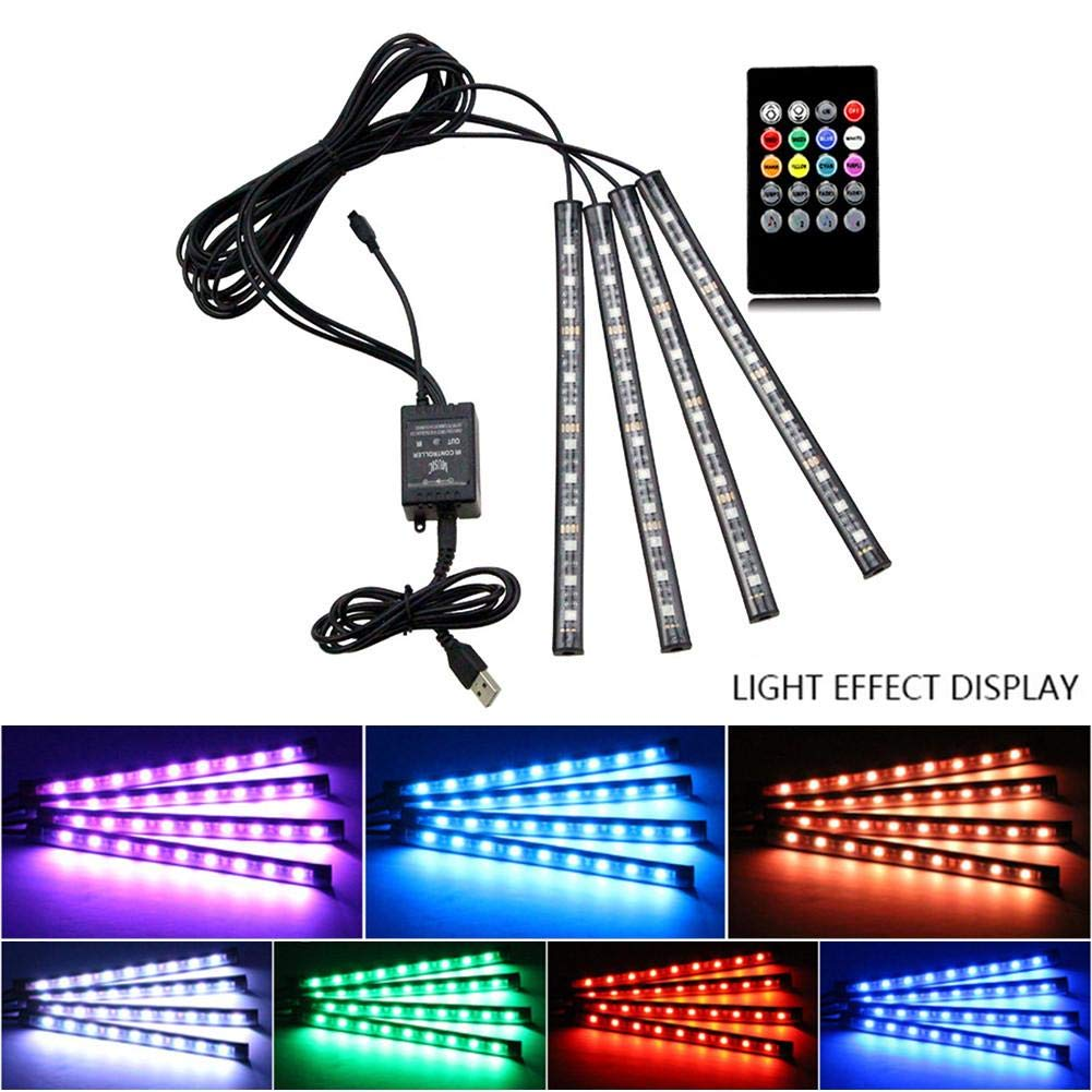 Lampe Voiture Interieur USB Rubans Led Lampe D/écoration Couleur Allume Cigare Lampe /Éclairage Int/érieur N/éon Pour TV Auto Voiture Lumi/ères de bande LED de voiture USB