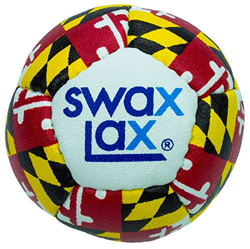 SWAX LAX Lacrosse Training Ball (Maryland) - Same Size and Weight as Regulation Lacrosse Ball but Soft - No Rebounds, Less Bounce Practice Ball