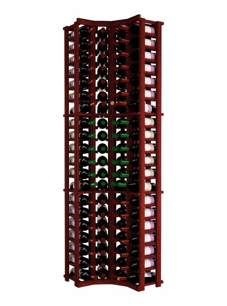 Wine Cellar Innovations TR-CM-CURV-A3 Traditional Series Curved Corner Wine Rack, Premium Redwood, Classic Mahogany Stain