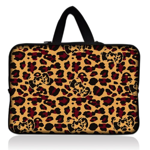 """Camouflage Leopard 13"""" 13.3"""" inch Notebook Laptop Case Sleeve Carrying bag with Hide Handle for Apple Macbook pro 13 Air 13/ Samsung 900X3 530 535U3/Dell XPS 13 Vostro 3360 inspiron 13/ ASUS UX32 UX31 U36 X35 /SONY SD4/ThinkPad X1 L330 E330"""