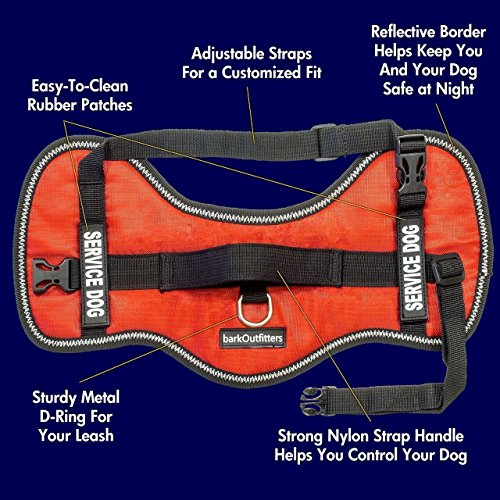 Picture of Service Dog Vest Harness - Light Weight But Durable - Available Sizes 16