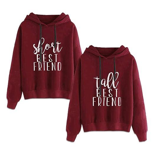 Amazoncom Best Friends Hoodies For 2 Girls Bff Jumper Matching