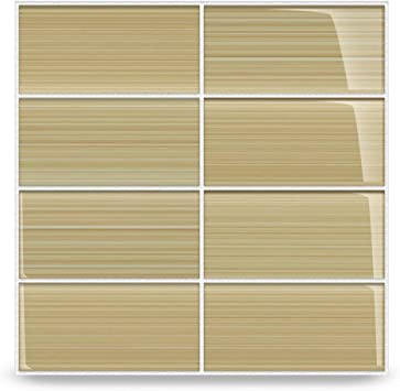 4x12 Light Brown Subway Glass Mosaic Tiles for Bathroom and Kitchen Walls Kitchen Backsplashes By Vogue Tile