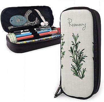 Estuche para bolígrafo de cuero Tomillo Romero Sage Bolígrafo Estuche para lápices Estuche para bolígrafo: Amazon.es: Oficina y papelería