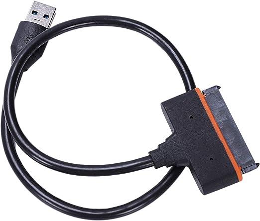 Iycorish USB 3.0 ~ ST、USB 3.0?2.5インチ ST IIIハードドライブのアダプタのケーブル、USP付き、2.5インチHDDおよびSと互換性があり 45cm