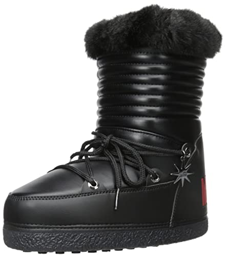 a5619154e Love Moschino Women's Furry Moon Boot Winter Boot, Black, 37 EU/7 M ...
