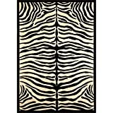 Furniture of America Shenelle 5'3'' x 7'6'' Rug in Ivory and Black
