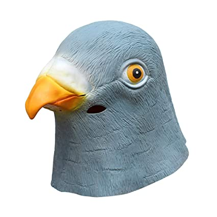 BESTOYARD Maschera Piccione di Testa di uccello in Lattice per Adulti Festa  Halloween 1pc 8cb96ac75a13