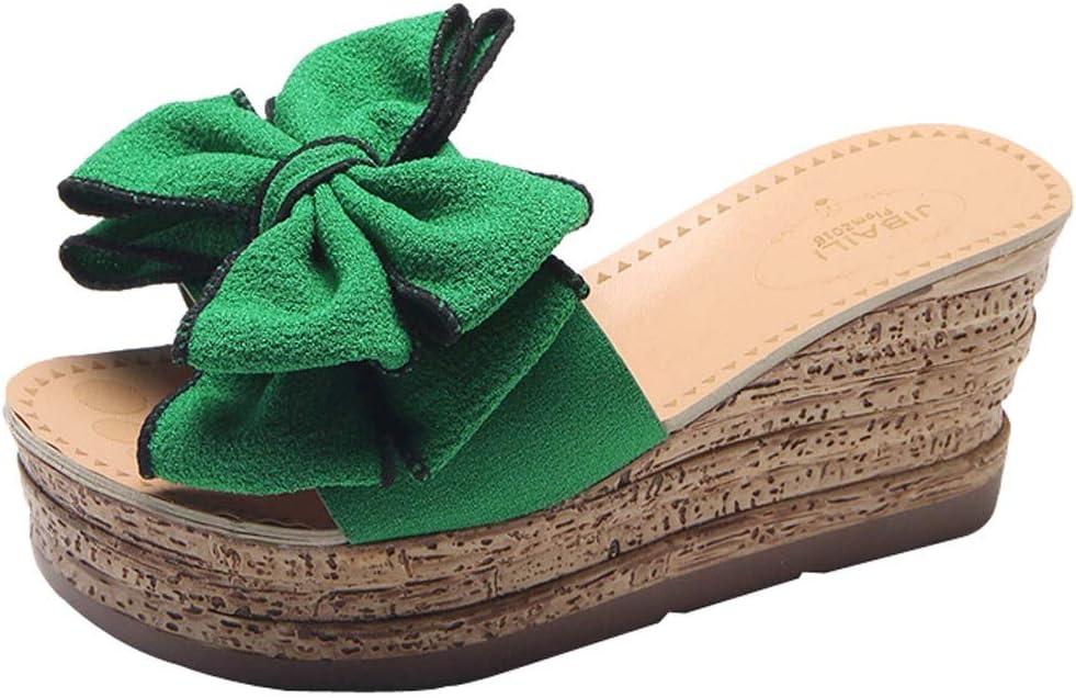 AG&T Color sólido de la Mujer Arco Sandalias de cuña Zapatos de tacón Moda Casual Boca de Pescado Sandalias de Punta Abierta: Amazon.es: Deportes y aire libre