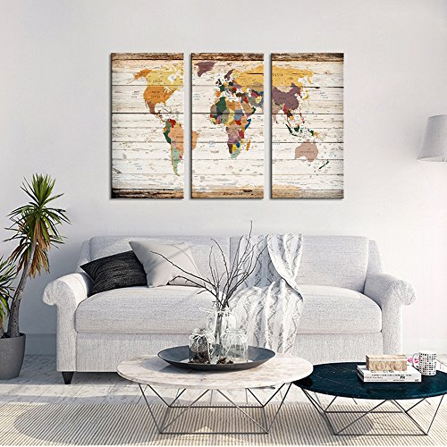 Extreme large 32 x55 vintage world map impresiones en lienzo push xlarge vintage world map canvas prints atlas framed map wall art decor for travel pin marks large map wall decor 1 gumiabroncs Choice Image