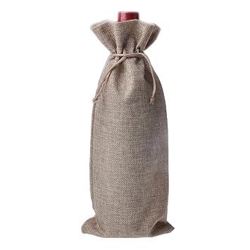 Yute vino bolsas con cuerdas de cinturón: Amazon.es: Hogar
