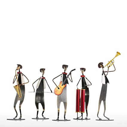 8fdc23f761ce8 College Boys Music Band With Cowboy Hat Band Group Music Person Set  Decorative Iron Art Ornament