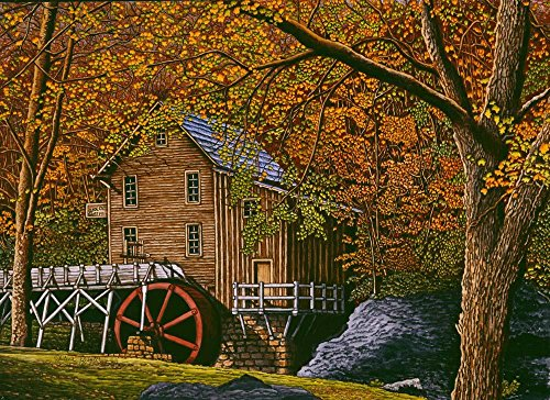 Wallmonkeys Mill Babcock State Park Wall Mural by Thelma Winter (60 in W x 44 in H) WM164564