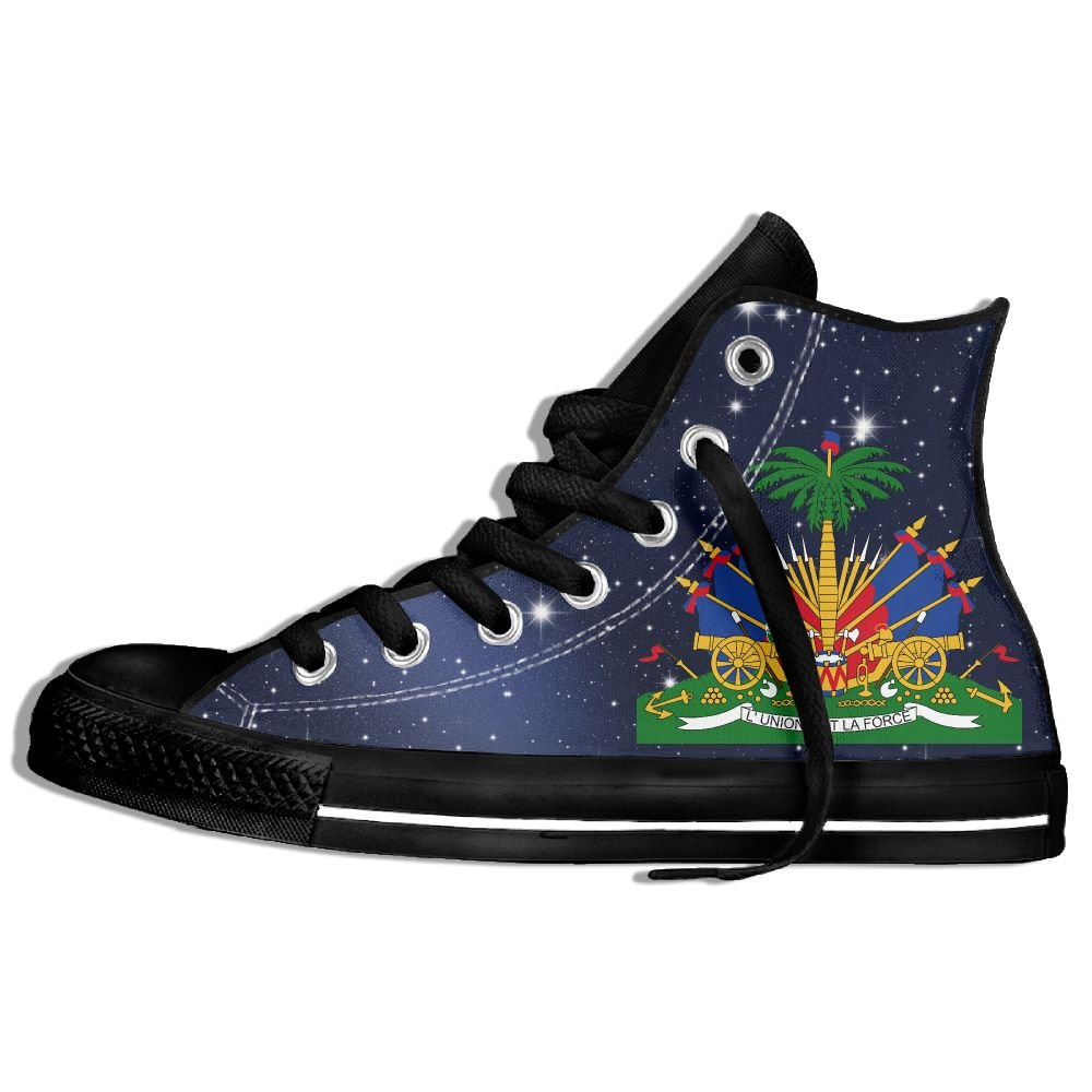 Coat Of Arms Of Haiti High Top Classic Casual Canvas Fashion Shoes Sneakers For Women & Men