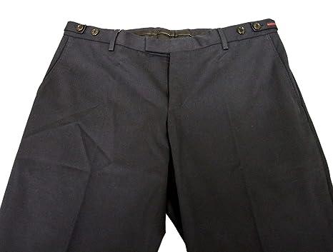 2acf68d958a Gucci Men's Blue Cotton BRB Web Dress Causal Pants 268899 (52 G / 36 US