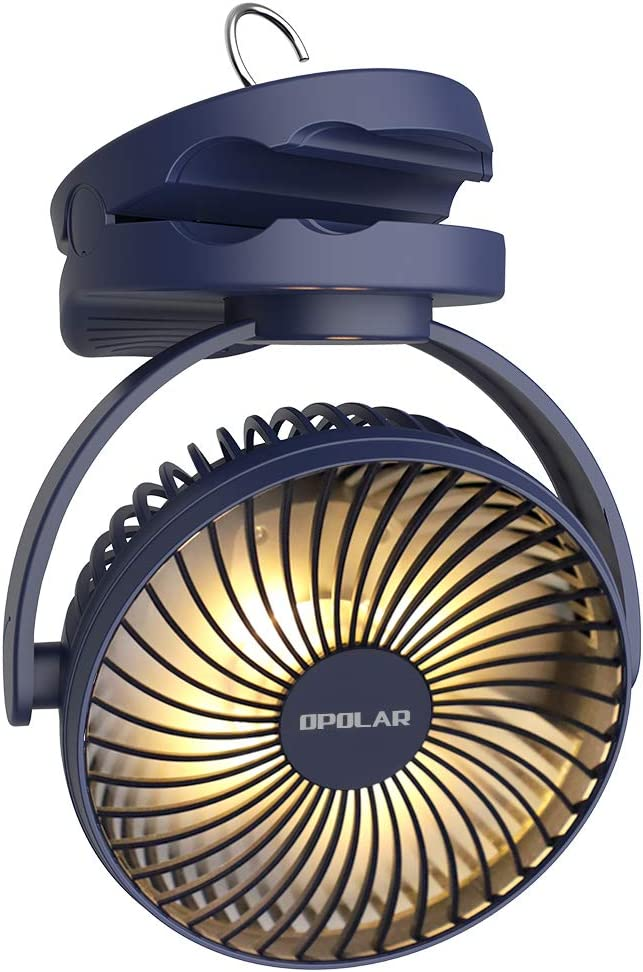 OPOLAR camping fan with light