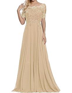 b2db4a9fdb Mother of The Bride Dresses Appliques Beaded Chiffon Evening Formal Dress
