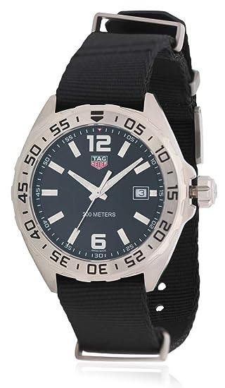 TAG Heuer Reloj de Hombre Cuarzo Suizo Correa de Nylon WAZ1015.FC8198: Amazon.es: Relojes