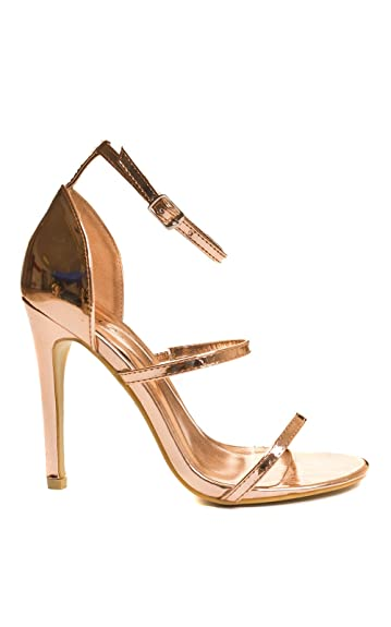 4a315d68c3ba0 Amazon.com: IKRUSH Womens Honor Party High Heels Rose Gold: Shoes