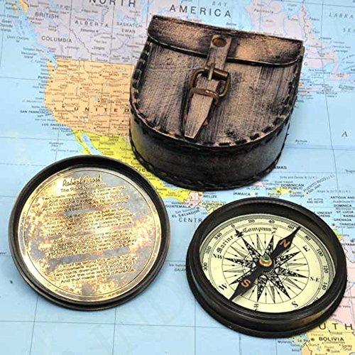 アンティークスタイル航海コンパスwithレザーケース