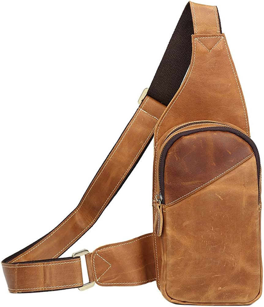 Genda 2Archer Black Leather Satchel Bag Crossbody Bag for Men and Women