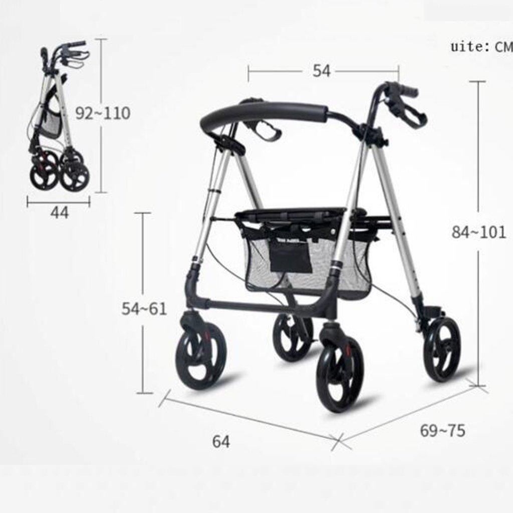 Amazon.com: LTOOLA Wheelchair Folding Lightweight Four-Wheeled ...