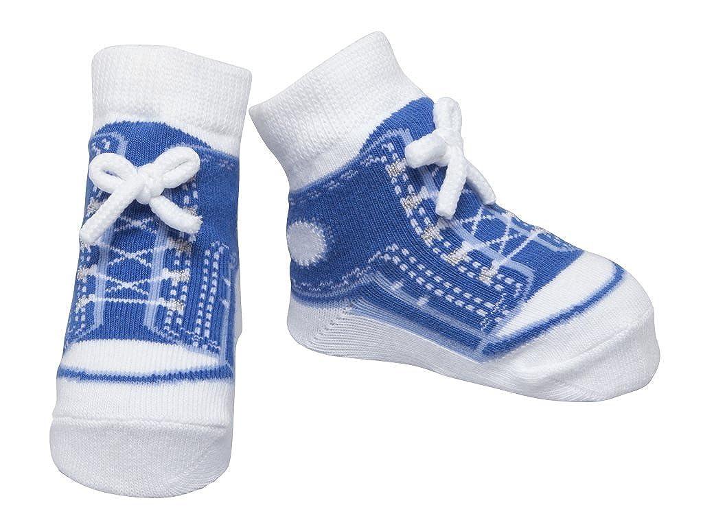 Baby Emporio 3 pares de calcetines para bebé niño - Suelas antideslizantes - Algodón suave - Con cajita regalo - Efecto zapatillas - 0-12 meses (BOY ...