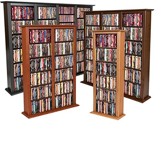 Venture Horizon Media Storage Tower-Regular Single Walnut by Venture Horizon