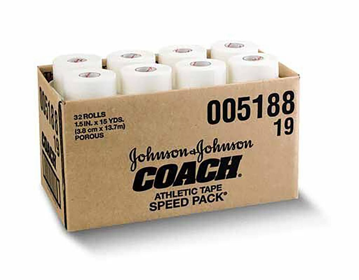 Johnson & Johnson Athletic Tape Coach Sports Tape 2'' 24 Pack by J & J